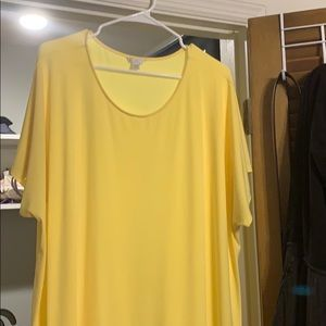 Beautiful Catos blouse. Yellow and flares